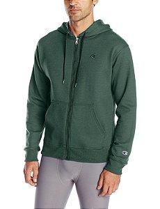 Moletom Champion Powerblend Fleece Full-Zip - Dark Green