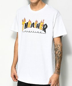Camiseta Thrasher Flame Logo 2 - White