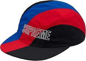Boné Supreme Diagonal Stripe Nylon Hat - Red