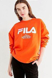 Moletom FILA Crew-Neck - Orange
