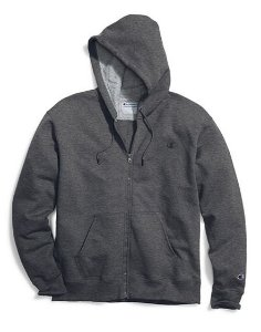 Moletom Champion Powerblend Fleece Full-Zip - Dark Grey