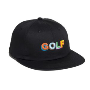 Boné Golf Wang 3D Logo Multi Color - Black