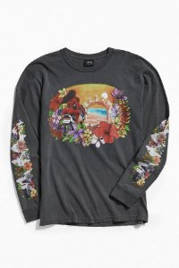 Camiseta Stussy Hellshire Long Sleeve - Grey
