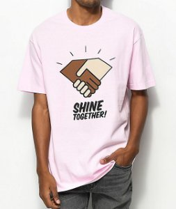 Camiseta Diamond Supply Co. Shine Together - Pink