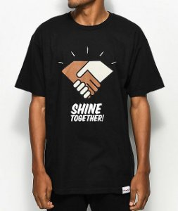 Camiseta Diamond Supply Co. Shine Together - Black
