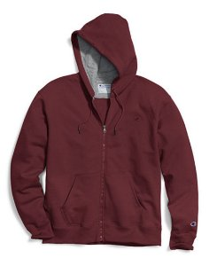 Moletom Champion Powerblend Fleece Full-Zip - Dark Red