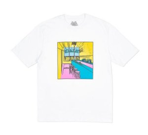 Camiseta Palace Scheisse Face - White