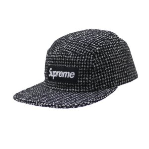 Boné 5-Panel Supreme Boucle Camp Cap - Black