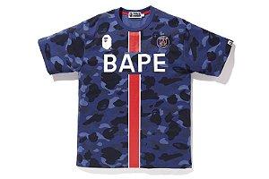 Camiseta Bape 1ST Camo x PSG - Blue