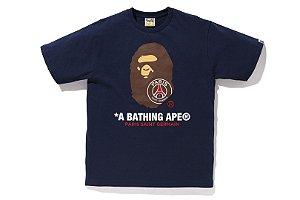 Camiseta Bape x PSG - Navy