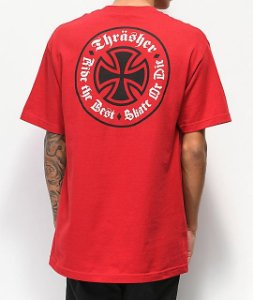 Camiseta Independent x Thrasher Oath - Red
