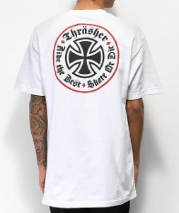 Camiseta Independent x Thrasher Oath - White