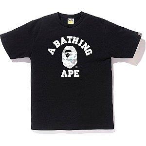 Camiseta Bape College  Space Camo - Black