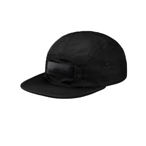 Boné 5-Panel Supreme Patent Leather Patch - Black