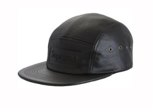 Boné 5-Panel Supreme Pebbled Leather - Black