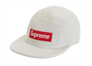 Boné 5-Panel Supreme Glitter Terry - White