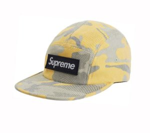 Boné 5-Panel Supreme Washed Out Camo - Yellow