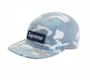 Boné 5-Panel Supreme Washed Out Camo - Blue