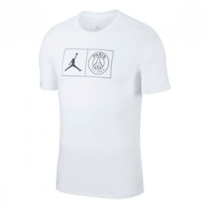 Camiseta Jordan x PSG Jock Tag - White