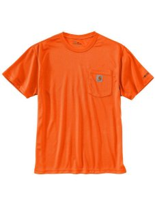 Camiseta Carhartt Force - Orange Neon