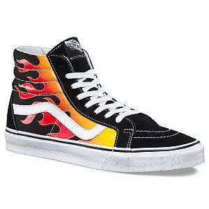 Tênis Vans Flame Sk8-HI - Black