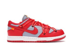 Tênis Nike Dunk Low Off-White University - Red