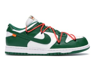 Tênis Nike Dunk Low Off-White University - Pine Green