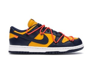 Tênis Nike Dunk Low Off-White University - Michigan