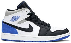 Tênis Nike Air Jordan 1 Mid SE - Royal Black Toe