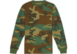 Supreme Hanes Thermal Crew - Woodland Camo