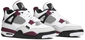 Tênis Nike Air Jordan 4 Retro x PSG - Bordeaux