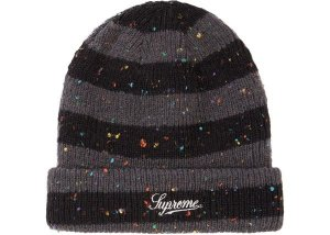 Touca Supreme Stripe Speckle - Black