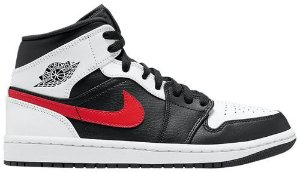 Tênis Nike Air Jordan 1 Mid - Black Chile Red