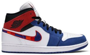(Produto Usado) Tênis Nike Air Jordan 1 Mid - Multicolored Swoosh