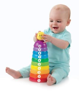 Torre de Potinhos Coloridos Fisher Price - Mattel