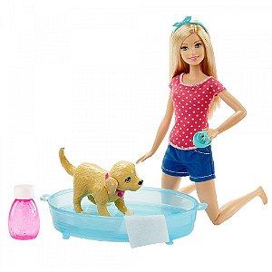 Boneca Barbie Família Filhotinho no Banho - Mattel