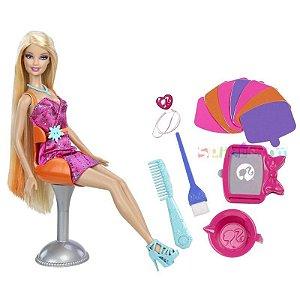 Boneca Barbie Mechas Coloridas - Mattel