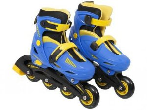 Patins Roller Inline Regulável do 34 ao 37 Azul - Multikids