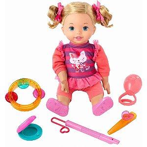 Boneca Little Mommy Minha Primeira Aula de Música - Mattel