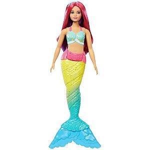 Boneca Barbie Dreamtopia Sereia Rosa - Mattel