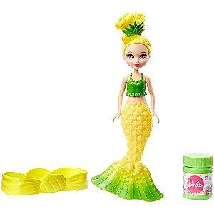 Boneca Barbie Dreamtopia Mini Sereia Bolhas Mágicas Amarela - Mattel
