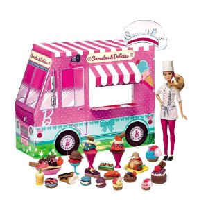Massinha Barbie Food Truck Sorvetes E Delicias - Fun