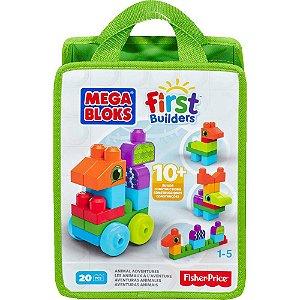 Mega Bloks First Builders Sacola Animais 20 Peças - Mattel