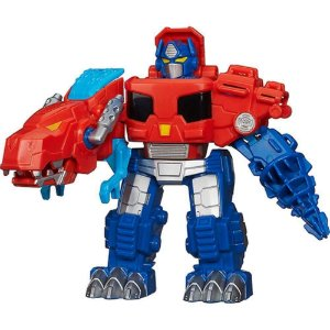 Transformers Rescue Bot Playskool Optimus Prime Dinossauro - Hasbro