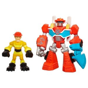 Transformers Rescue Bots Playskool Heroes Heatwave e Kade Burns - Hasbro