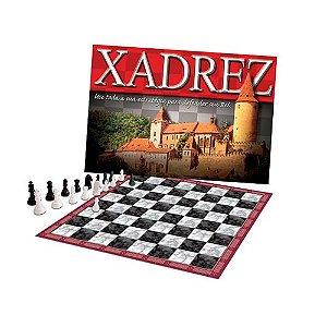Jogo de Xadrez com 32 peças plásticas e 1 tabuleiro 1155 - Pais & Filhos