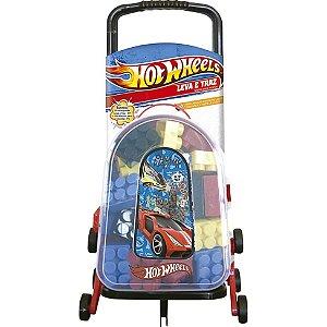 Hot Wheels Malinha Leva E Traz com Blocos De Montar - Barão Toys