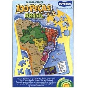 Quebra Cabeças Mapa Do Brasil 100 Peças - Toyster