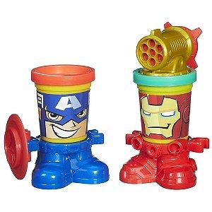 Play-Doh Marvel Heróis Capitão América & Homem de Ferro - Hasbro