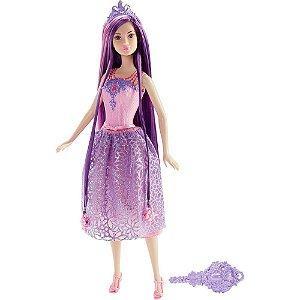 Boneca Barbie Princesa Cabelo Longo Roxo - Mattel